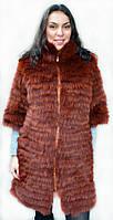 Пальто меховое из меха скандинавского песца