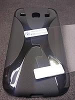 Комплект чехол и пленка для Samsung Galaxy Core i8260 i8262 черный