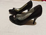 Туфельки на підборах, човники, кожзам 37 р, фото 2