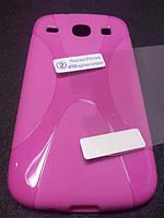 Комплект чехол и пленка для Samsung Galaxy Core i8262 i8260 розовый