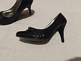 Туфельки на підборах, човники, кожзам 37 р, фото 9