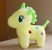 Мягкая игрушка Единорог желтый 21см
