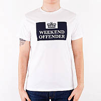 Футболка белая weekend offender logo | топ