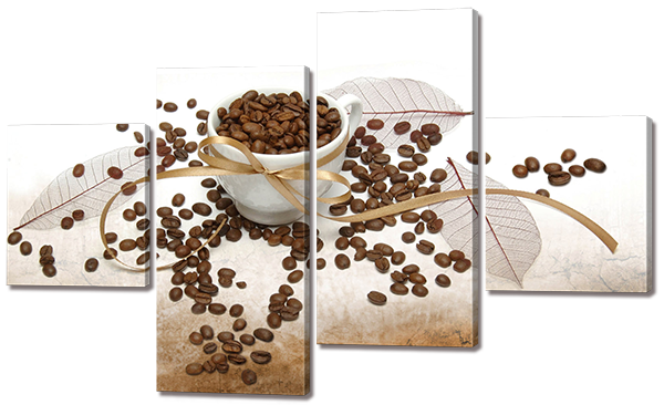 Модульная картина Interno Холст Кофейные Зерна 121x69см (R575М)