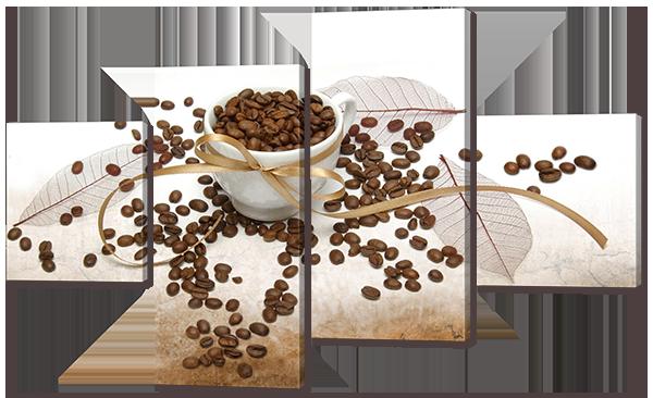 Модульная картина Interno Эко кожа Кофейные Зерна 106X60см (A575S)