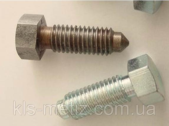 Болт нержавеющий  с уменьшенной головкой и цапфой DIN 561 А2, фото 2