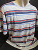 Чоловічі футболки в смужку з кишенею на грудях.