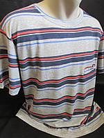 Чоловічі футболки в смужку з кишенею на грудях., фото 1