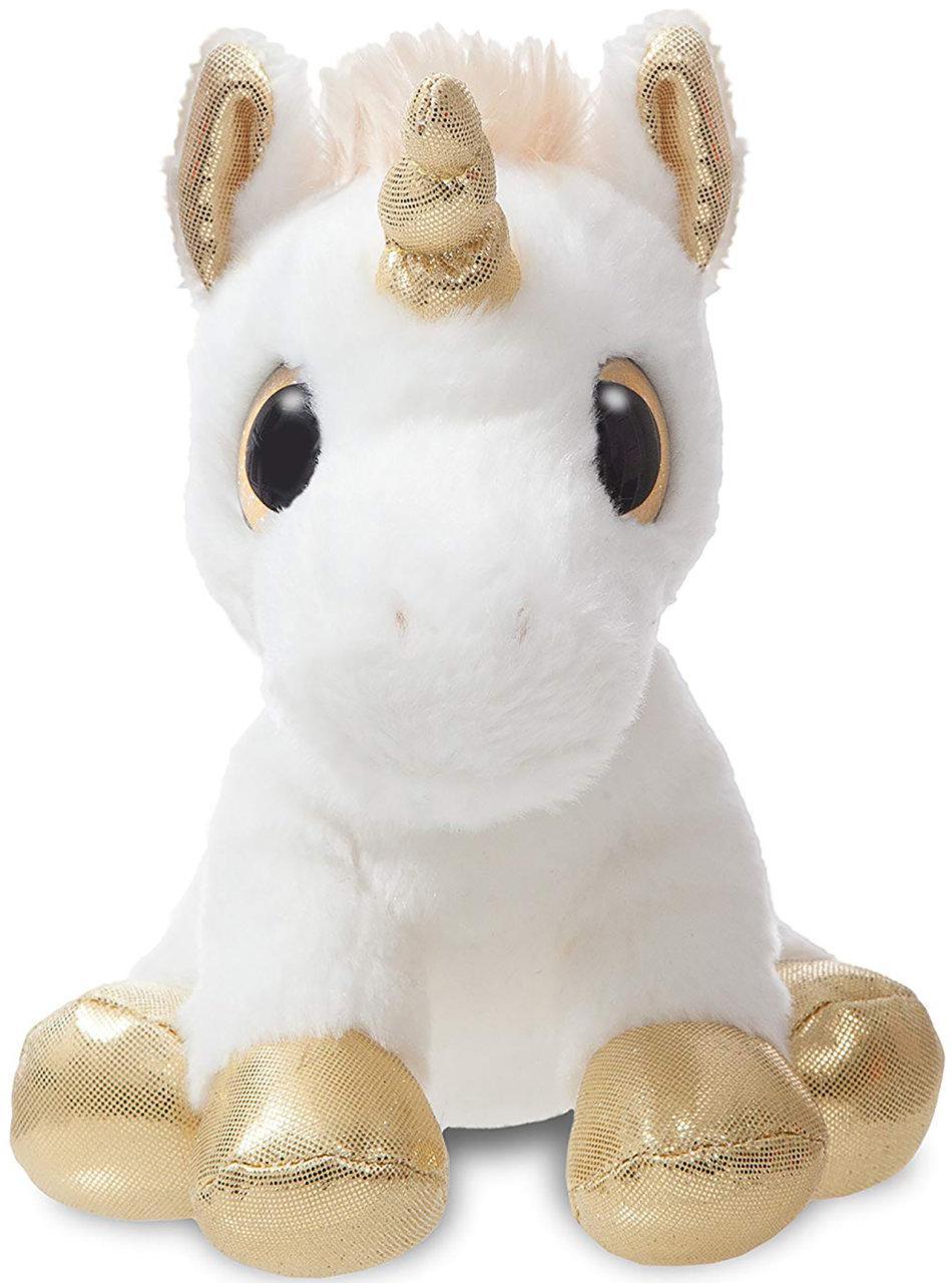 М'яка іграшка Aurora Єдиноріг Gold сяючі оченята 20 см (150710J)