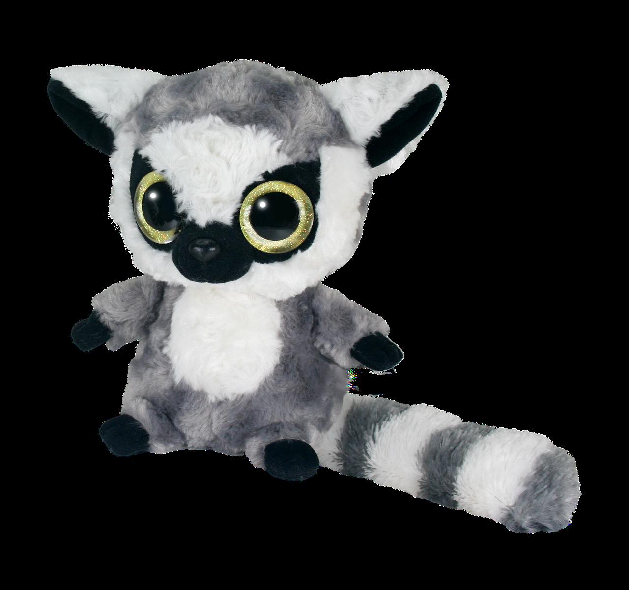 Мягкая игрушка Aurora Yoo Hoo Кошачий лемур Cияющие глаза 23 см (71012D)