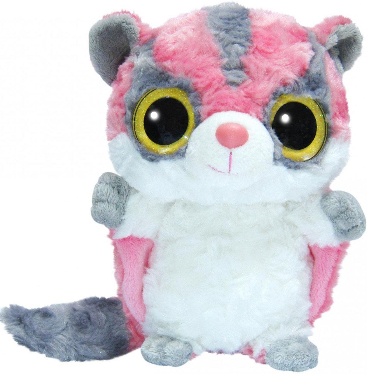 Мягкая игрушка Aurora Yoo Hoo Сумчатая летяга Cияющие глаза 23 см (80633F)