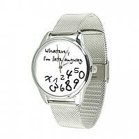 Часы Ziz Late white, ремешок из нержавеющей стали серебро и дополнительный ремешок - 142927