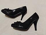 Туфельки на каблуке, кожзам, фото 3