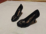 Туфельки на каблуке, кожзам, фото 4