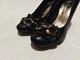 Туфельки на каблуке, кожзам, фото 2