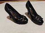 Туфельки на каблуке, кожзам, фото 6