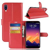 Чехол-книжка Litchie Wallet для Meizu E3 Красный