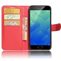 Чехол-книжка Litchie Wallet для Meizu M5 Красный