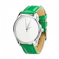Часы Ziz Минимализм, ремешок изумрудно-зеленый, серебро и дополнительный ремешок - 142862