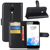 Чехол-книжка Litchie Wallet для Meizu M5C Черный