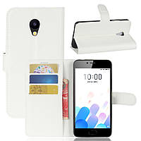Чехол-книжка Litchie Wallet для Meizu M5C Белый
