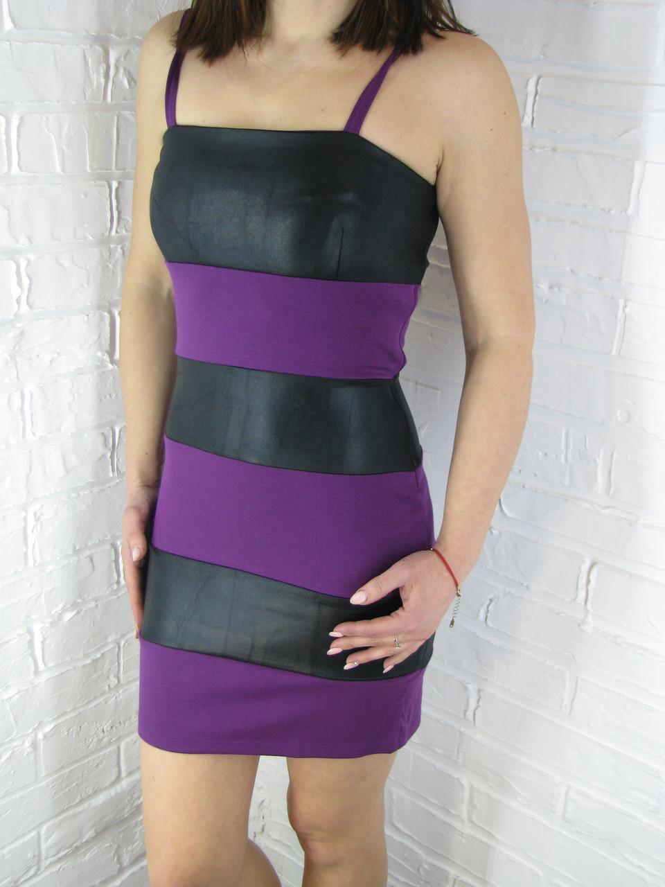 """Сукня жіноча """"Joseph Ribkoff"""" трикотажне чорно-фіолетове S,M"""