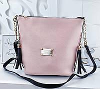 16fc6b1c93c8 Женская сумка Louis Vuitton, YSL (копия) пудрового цвета, из структурной  эко кожи