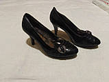 Туфельки на підборах, кожзам, фото 2