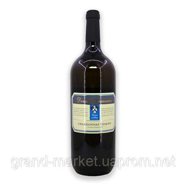 "Вино біле ""Donna Francesca Chardonnay Venezie"" IGT, 1.5 l"