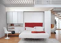 Стенка для гостиной с подъемной шкаф-кроватью