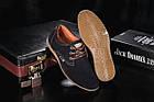 Подростковые замшевые туфли в стиле Clarks темно-синего цвета, фото 4
