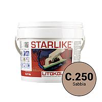 Litokol Starlike Classic Collection С.250 Песочный 2,5 кг затирка двухкомпонентная для укладки плитки