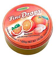 Леденцы (конфеты) Woogie Fine Drops (мелкие капли) апельсиновый вкус 200 г Австрия