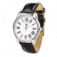 Часы Ziz с обратным ходом Возвращение, ремешок насыщенно-черный, серебро и дополнительный ремешок - 142638