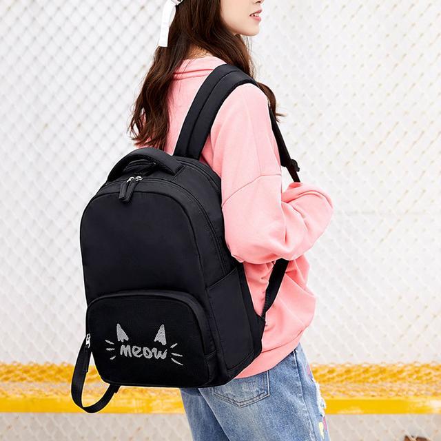 Школьный рюкзак Meow черный