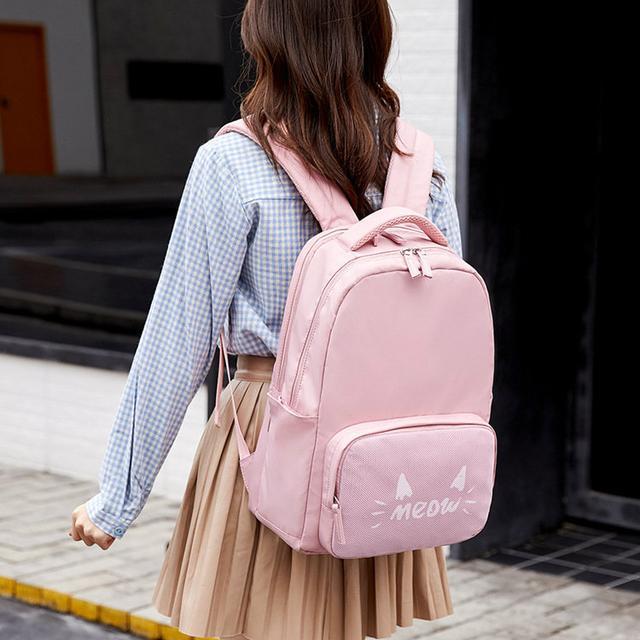 Школьный рюкзак Meow розовый