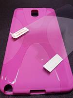 Комплект чехол и пленка для Samsung Galaxy Note 3 N9000 фиолетовый