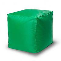 Пуф кубик 45*45*45 см зеленый из ткани Оксфорд, фото 1