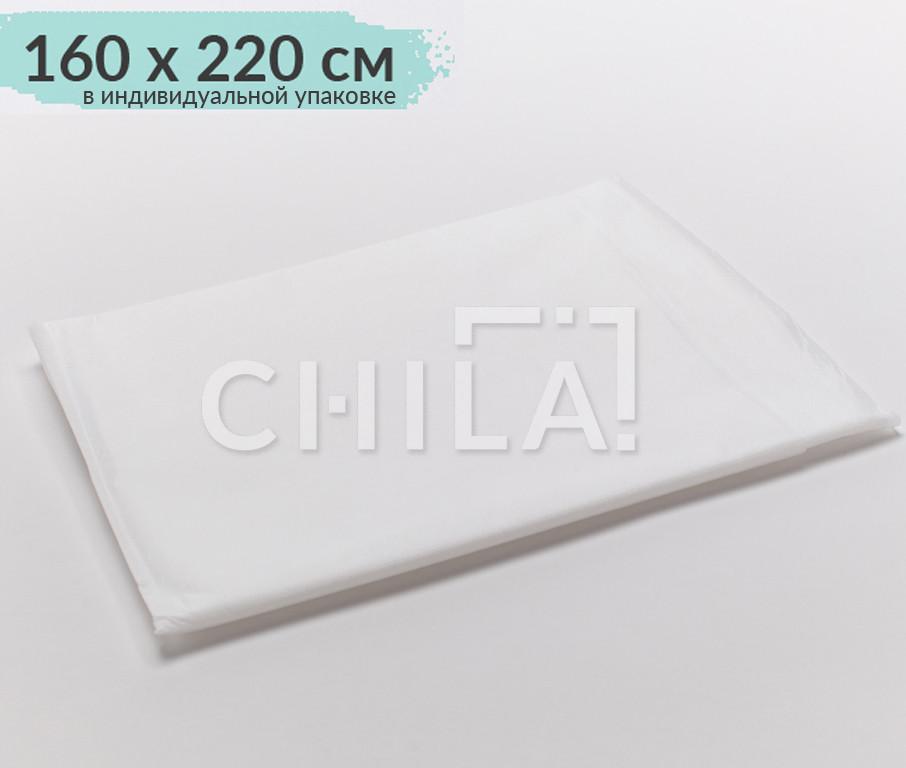 Одноразовые простыни 160*220см нарезные, Поштучно в индивид. упаковке (1 шт/уп)