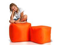 Пуф кубик 45*45*45 см оранжевый из ткани Оксфорд
