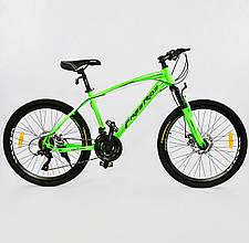 "Велосипед Спортивный CORSO 24""дюйма 0012 - 2315 GREEN-BLACK Free Ride"