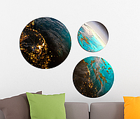 Фотокартина модульная Круглая 3 модуля Земля