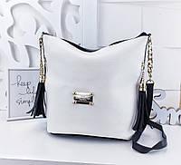 312157301d63 Женская сумка Louis Vuitton, YSL (копия) бело-черного цвета, из структурной