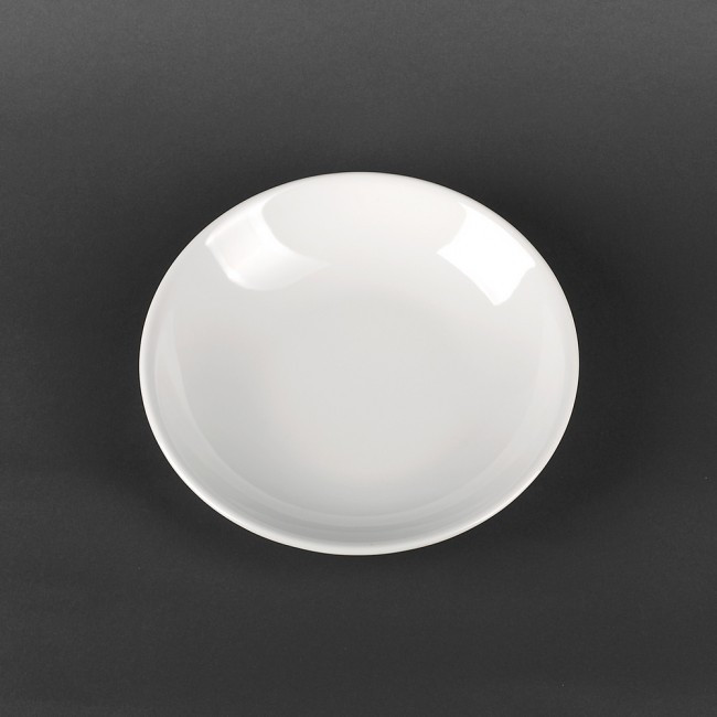 Тарелка глубокая из белого польского фарфора Lubiana Hotel 600 мл (1122)