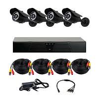 Комплект AHD видеонаблюдения на 4 уличные камеры CoVi Security AHD-4W KIT, фото 1