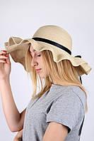 Широкополая шляпа Famo Широкополая шляпа Санторини капучино - 137132