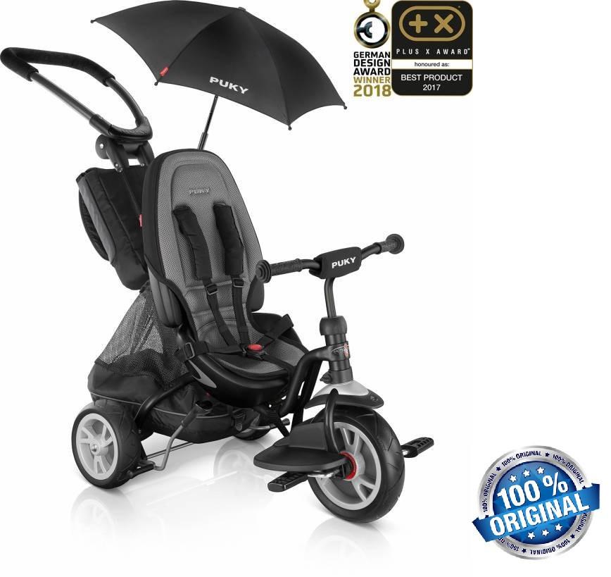 Трехколесный велосипед Puky CAT S6 Ceetyс (2411, черный)