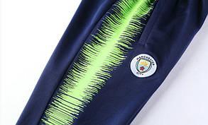 Спортивный костюм Манчестер Сити на длинной змейке (Тренировочный клубный костюм Manchester City), фото 2