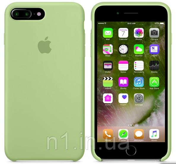 ЧехолнакладкадляiPhone7 PlusSiliconeCaseзеленый (без упаковки)
