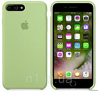 ЧехолнакладкадляiPhone7 PlusSiliconeCaseзеленый (без упаковки), фото 1